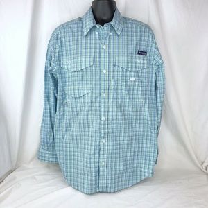 Columbia PFG Fly Fishing Embroidered Blue Plaid